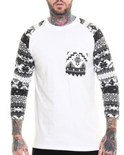 Men - Aztec 3 / 4 Sleece Raglan Tee
