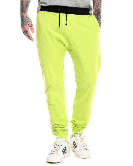 Ur-ID 217046 Basic Essentials - Men Neon Yellow French Terry Jogger Pants