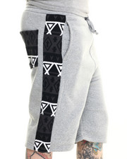 Men - Aztec - Print Fleece Shorts