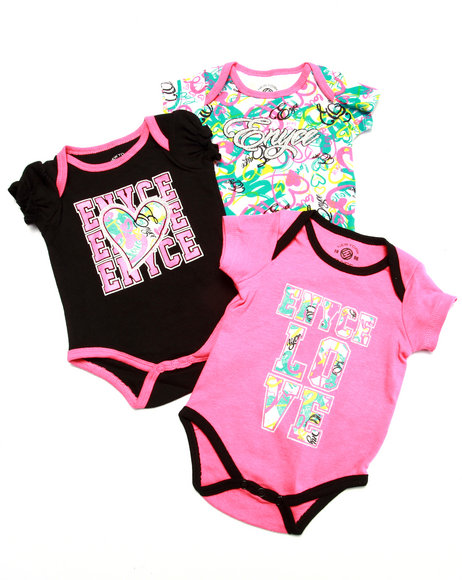 Enyce - Girls Pink 3 Pack Bodysuits (Newborn) - $9.99