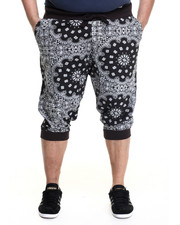 Men - E40 Bandana print jogger shorts (B&T)