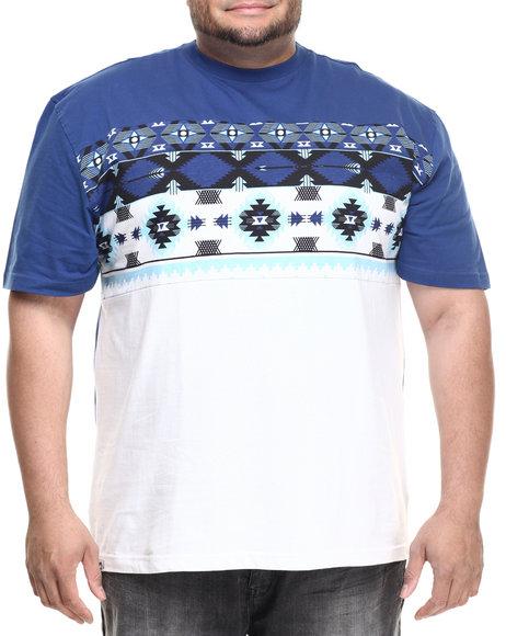 Ur-ID 216735 Akademiks - Men Blue Charli Cut & Sewn S/S Tee (B&T)
