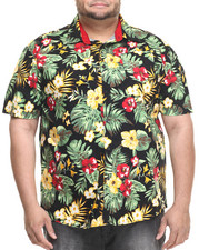 Men - Kane Tropical Allover Print S/S Button Down Shirt (B&T)