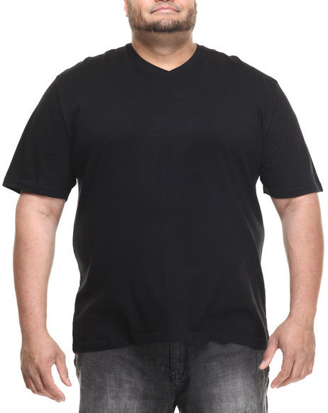 Basic Essentials - Men Black Basic V - Neck S/S Tee (B&T)