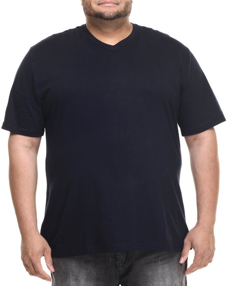 Basic Essentials - Men Navy Basic V - Neck S/S Tee (B&T)