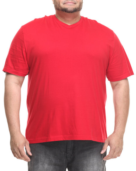 Basic Essentials - Men Red Basic V - Neck S/S Tee (B&T) - $6.99