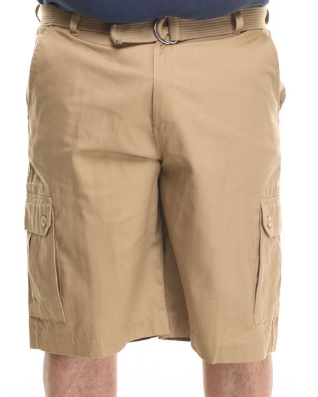 Ur-ID 216161 Ecko - Men Khaki Belted Twill Cargo Short (B&T)