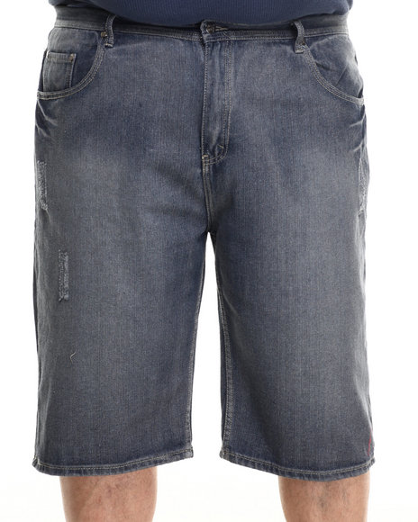 Akademiks - Men Light Wash Soho Denim Shorts (B&T)
