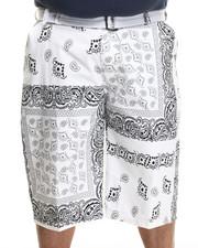 Buyers Picks - Bandana - Print Belted Twill Shorts (B&T)