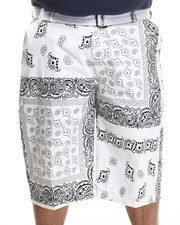Men - Bandana - Print Belted Twill Shorts (B&T)