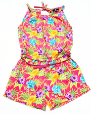 Girls - TROPICAL PRINT ROMPER (7-16)