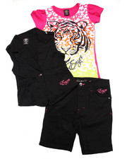 Fall Shop - Girls - 3 PC VEST & BERMUDA SET (7-16)
