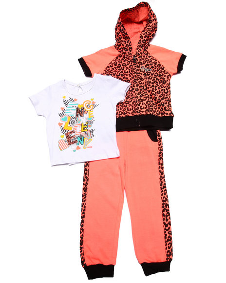 Enyce - Girls Coral 3 Pc Jogger Set (2T-4T) - $16.99