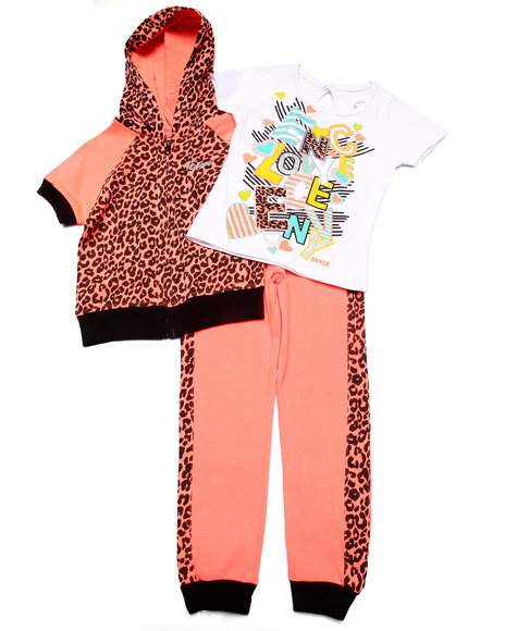 Enyce - Girls Coral 3 Pc Jogger Set (4-6X)