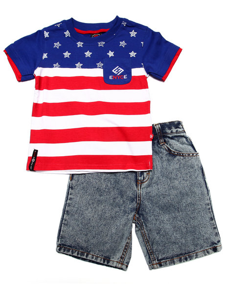 Enyce - Boys Blue 2 Pc American Short Set (4-7)