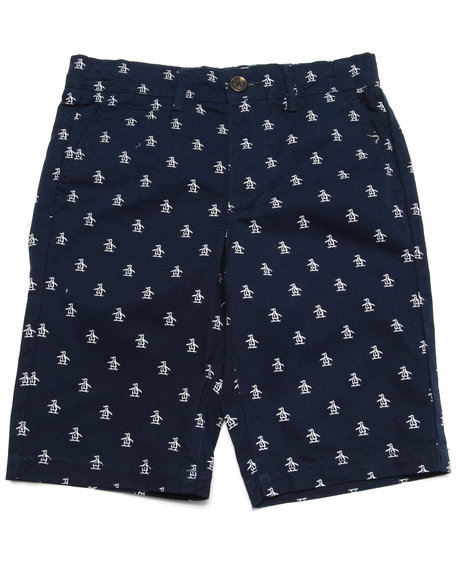Original Penguin - Boys Navy Re-Pete Shorts (8-20)