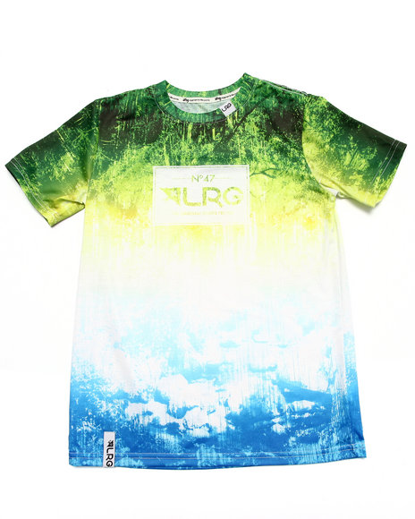 Lrg - Boys Green Roots People Tee (8-20)