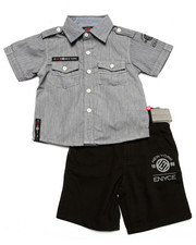 Enyce - 2 PC CHAMBRAY WOVEN & SHORT SET (2T-4T)