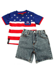 Boys - 2 PC AMERICAN SHORT SET (2T-4T)