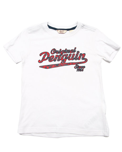 Original Penguin - Boys White Original Penguin Tee (4-7)