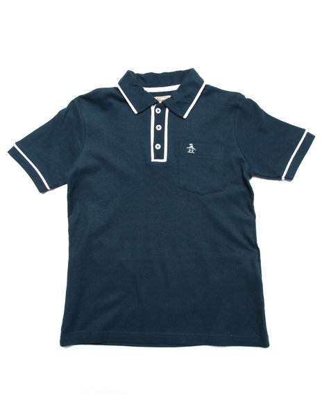 Original Penguin - Boys Navy The Earl Polo (8-20)