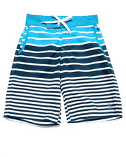 Shorts - STRIPED BOARD SHORTS (8-20)