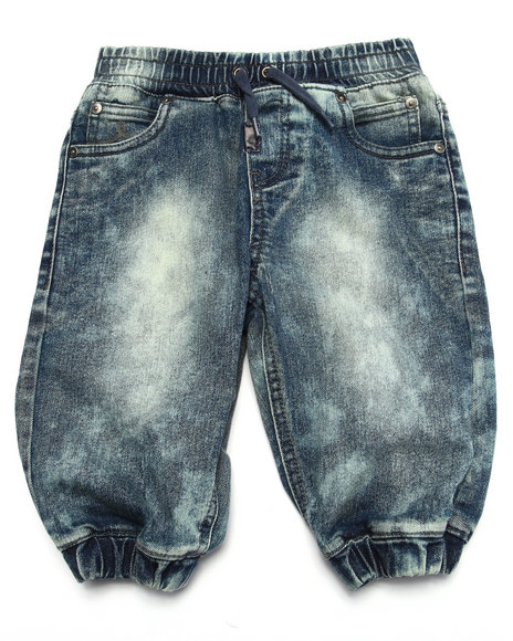 Lrg - Boys Light Wash Watermark Jogger Short (4-7) - $20.99