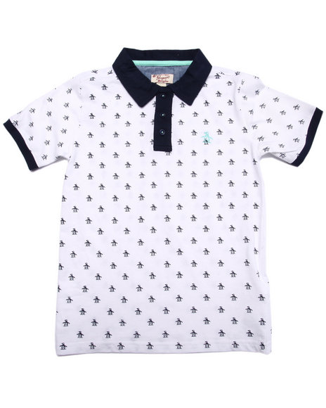 Original Penguin - Boys White Re-Pete Polo (8-20)