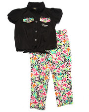 Sizes 4-6x - Kids - 2 PC FLORAL CAPRI SET (4-6X)