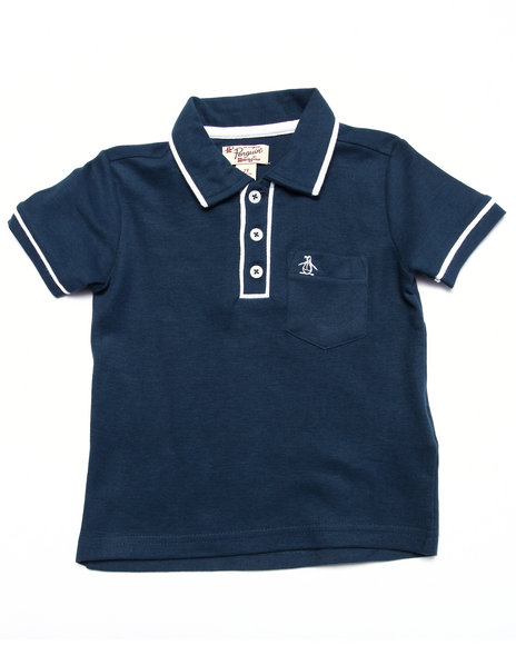 Original Penguin Boys The Earl Polo (2T-4T) Navy 2T