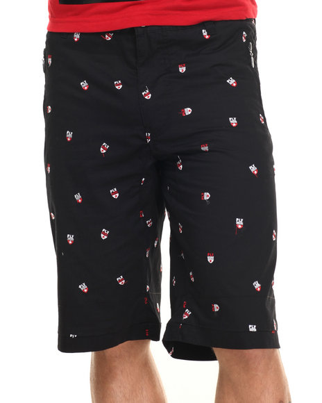Ur-ID 217102 Born Fly - Men Black Wila Twill Shorts