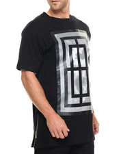 Akademiks - The Gates E-longated side zipper s/s tee