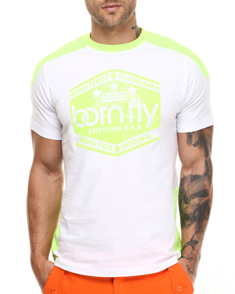 Ur-ID 217119 Born Fly - Men Neon Green Andoria Tee