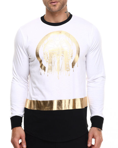 Ur-ID 217108 Born Fly - Men White Soma L/S Tee