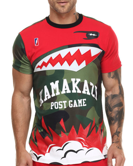 Post Game - Men Camo,Red Kamakazi S/S Tee