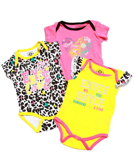 Enyce - Girls Pink 3 Pack Bodysuits (Newborn) - $8.99