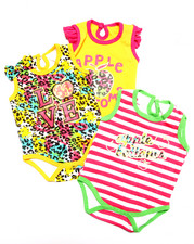 Apple Bottoms - 3 PACK BODYSUITS SET (NEWBORN)