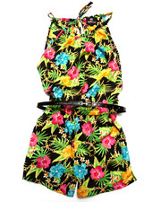 Sizes 7-16 - Big Kids - TROPICAL PRINT ROMPER (7-16)