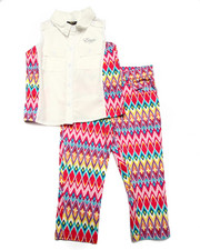 Sets - 2 PC TRIBAL CAPRI SET (4-6X)