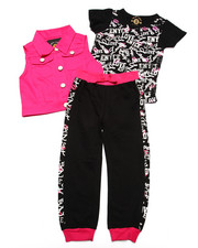 Girls - 3 PC VEST &  JOGGER SET (2T-4T)
