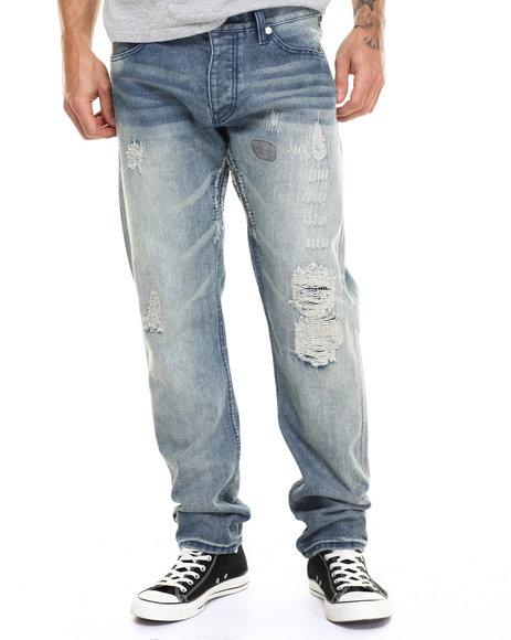Ur-ID 217112 Born Fly - Men Medium Wash Denver Denim Jeans