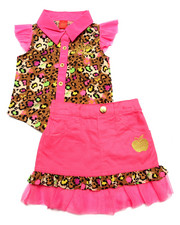 Apple Bottoms - 2 PC SKIRT SET (2T-4T)