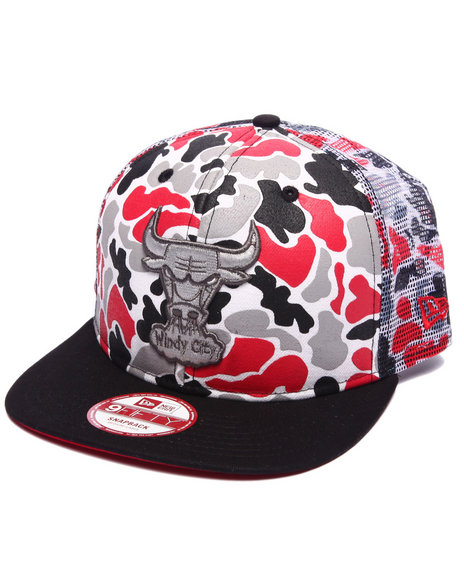 New Era Men Chicago Bulls Camo Face 950 Snapback Hat Camo
