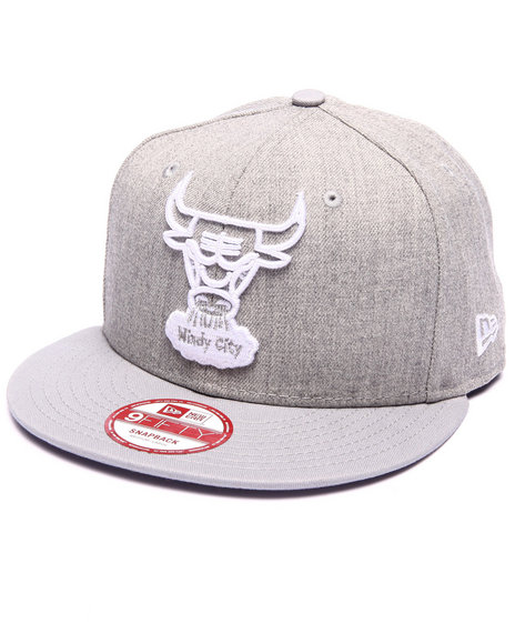 New Era - Men Grey Chicago Bulls Fresh Snap 950 Snapback Hat