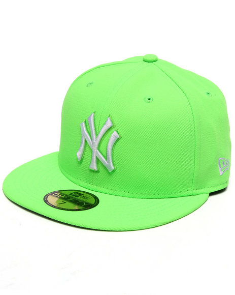 Ur-ID 217143 New Era - Men Lime Green New York Yankees League Basic 5950 Fitted Hat