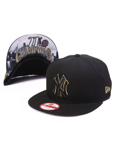 New Era - Men Black New York Yankees Team Hasher 950 Snapback Hat