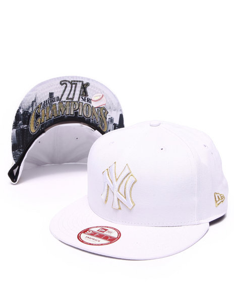 New Era Men New York Yankees Team Hasher 950 Snapback Hat White Medium/Large