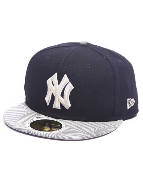 New Era - Men Navy New York Yankees Print Trance 5950 Fitted Hat
