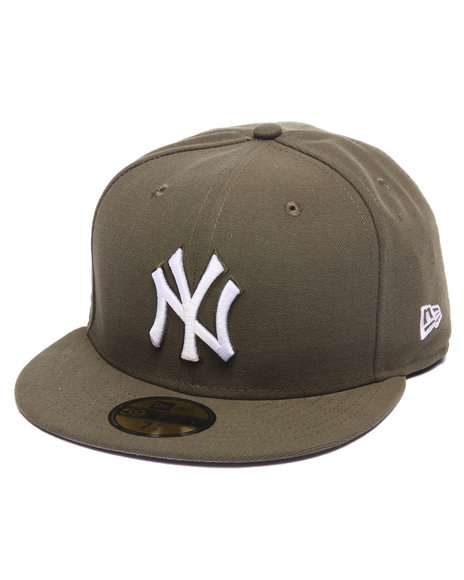 Ur-ID 217149 New Era - Men Olive New York Yankees League Basic 5950 Fitted Hat