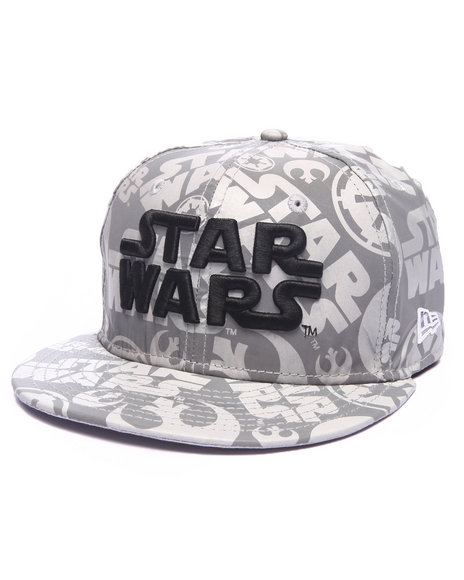 New Era - Men Silver Star Wars Comic Reflect 5950 Fitted Hat - $29.99